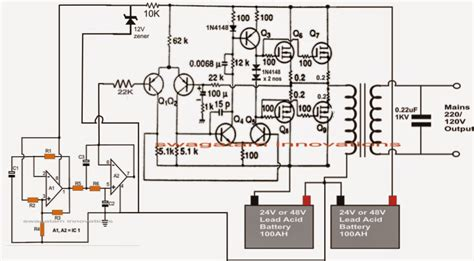 make this 1kva 1000 watts sine wave inverter circuit