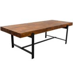 Kitchen Tables Rustic Wood - industrial iron amp acacia wood 94 quot large rustic dining table