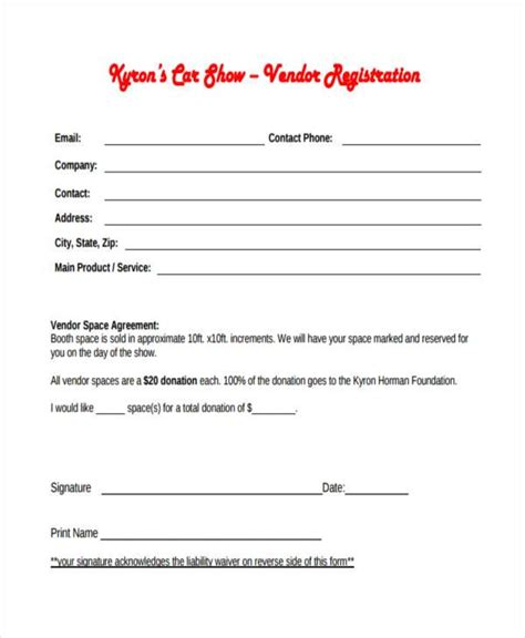 show entry form template car show registration form pictures inspirational pictures