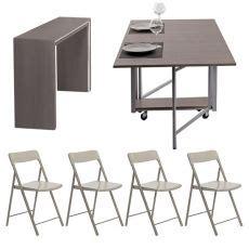 tavoli pieghevoli con sedie incorporate tavoli pieghevoli e ripiegabili i modelli salvaspazio