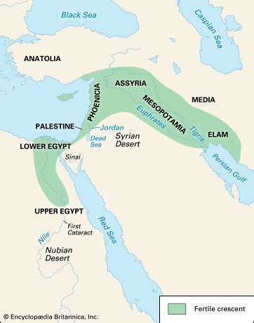 middle east map nile river fertile crescent encyclopedia children s