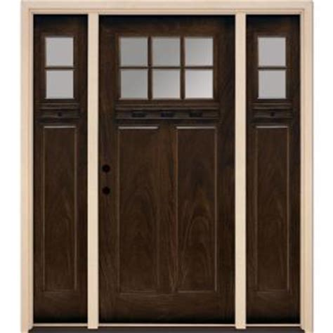 Feather River Doors 6 Lite Clear Craftsman Stained Feather River Exterior Doors
