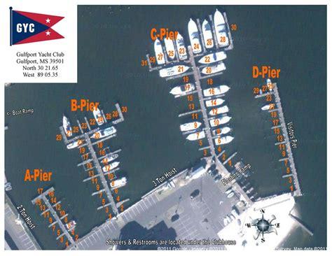 Yacht Club Layout | gulfport yacht club gyc slip layout