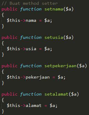 fungsi setter dan getter pada java belajar oop bag 6 setter dan getter