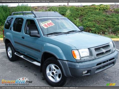 2001 nissan xterra se v6 4x4 mineral blue metallic dusk gray photo 3 dealerrevs com