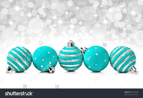 turquoise balls turquoise decoration balls on a background
