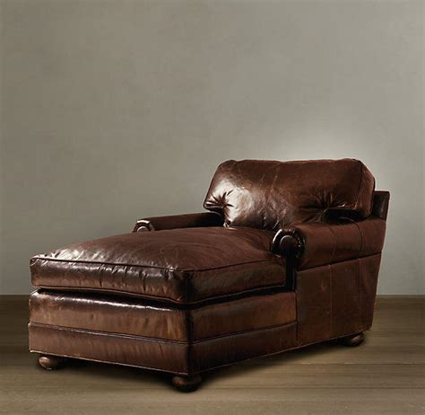 restoration hardware chaise lounge leather lancaster leather chaise from restoration hardware home