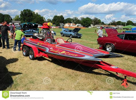 speed boat engine sound racing craft voodoo canoe speedboat editorial photo