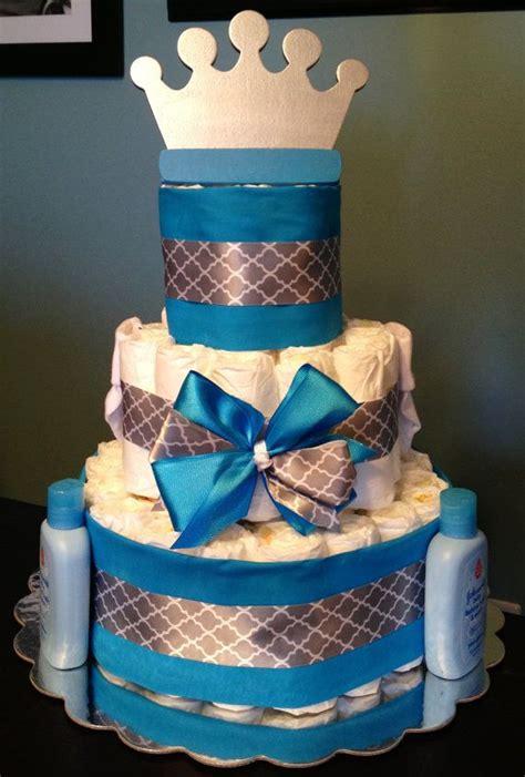 Customalized  Diaper Cake Little Pri E Blue
