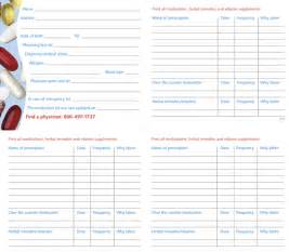 Free Medication List Template 7 Best Images Of Printable Medication List Printable