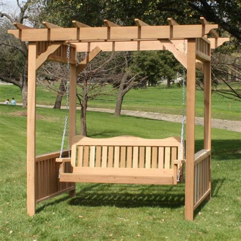 arbor swings tmp outdoor furniture decorative red cedar deluxe arbor