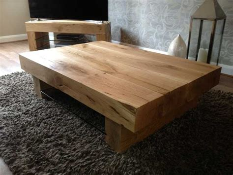 Chunky Wood Coffee Table Real Wood Coffee Tables