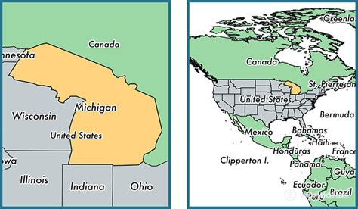 united states map michigan where is michigan state where is michigan located in