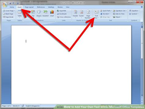 How To Add Your Own Text Within Microsoft Office Templates How To Add A Template To Word
