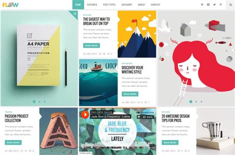 blog themes design 30 the most creative wordpress themes of 2017