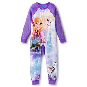 disney frozen footed sleeper pajamas target
