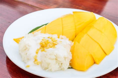 chitato mango sticky rice sticky rice with mango