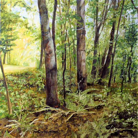 Woodland Tree - woodland forest watercolor nature landscape trees