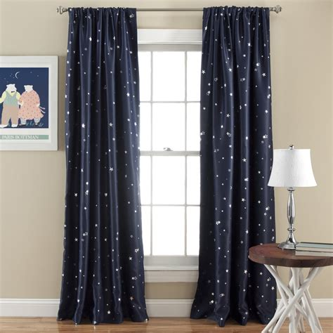 window darkening curtains star room darkening window curtain set lush decor www