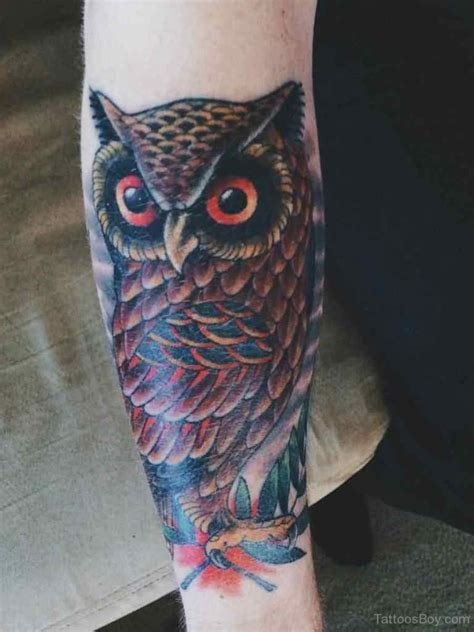 owl tattoos on arm owl tattoos designs pictures page 30