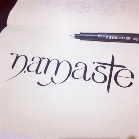 namaste tattoos typography mania 233 abduzeedo design inspiration