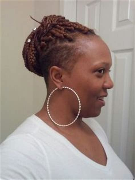 braid style with shaved back side shave with marley twist only from smartbraids