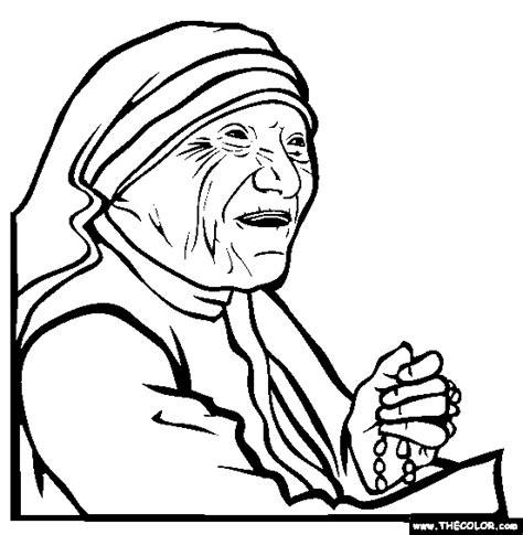 potrait mother teresa coloring pages