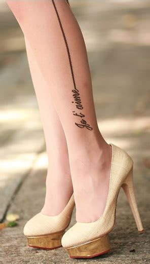 je t aime tattoo je t aime leg gonna dress you up in my