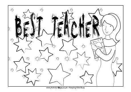 printable coloring pages for your teacher best teacher colouring page