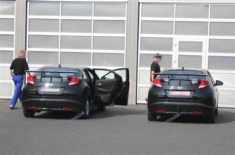 honda technical center high performance honda civic test mule spied testing autocar