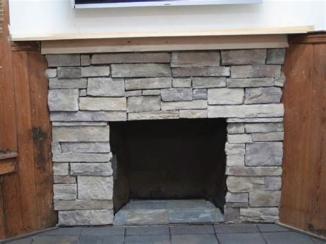 refacing brick fireplace with stone veneer home design ideas