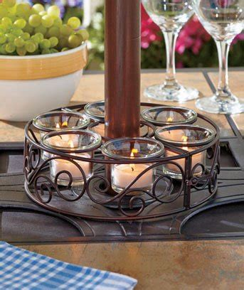scroll patio umbrella candle holder candleholder home
