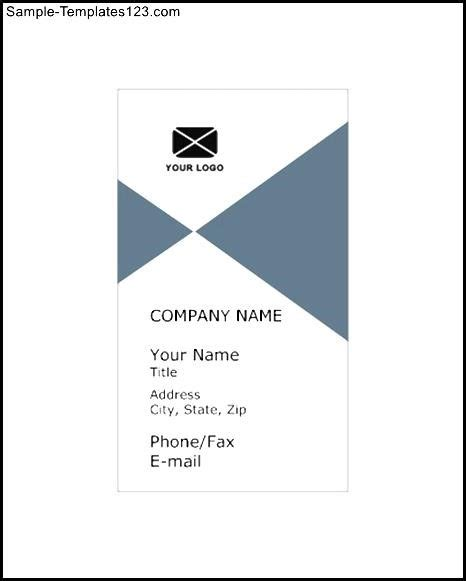vertical business card template sle templates