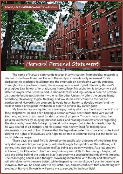 Harvard Mba Personal Statement by Harvard Business Personal Statement