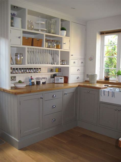 Grey Kitchen Cabinets Ikea Farrow And Charleston Gray Furniture Colours Stones Open Shelving And Charms