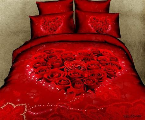 heart bed supper beautiful wedding bedsheet queen quilt cover 3d