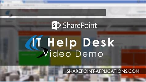 sharepoint help desk dashboard reporting demo