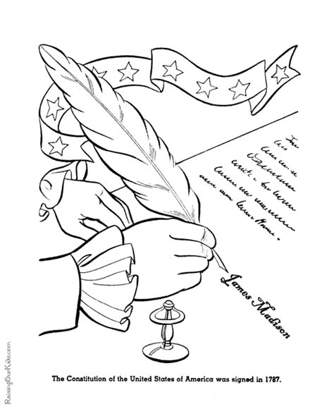 patriotic america coloring page signing the