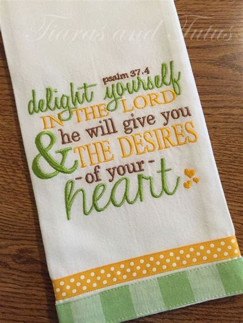 Machine Embroidery Designs For Kitchen Towels Kitchen Towel Embroidered With Bible Verse Linen Bridal Shower Gift Housewarming Gift