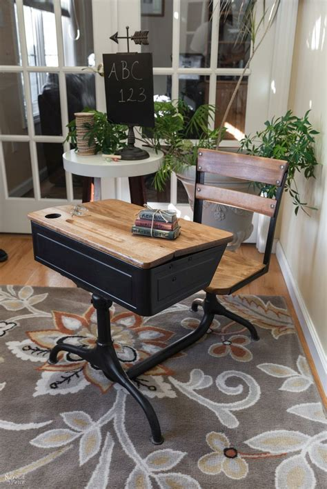 Autobiography Of A School Desk by Vintage School Desk Makeover The Navage Patch