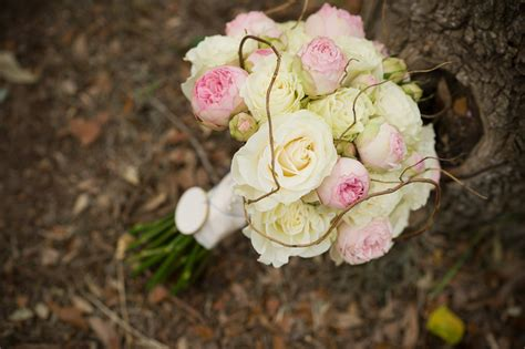 light pink and ivory wedding bouquets ivory and light pink wedding bouquet onewed