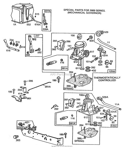 briggs and stratton carburetor parts diagram briggs and stratton 110902 1293 01 parts diagram for