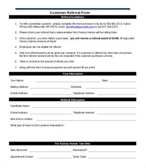 client referral form template referral form template 9 free pdf documents