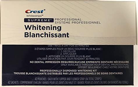 crest whitestrips supreme professional strength crest whitestrips supreme professional