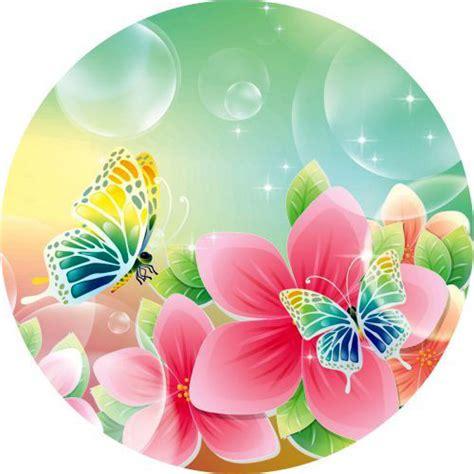 fiori con farfalle cialdeper torta con disegni di farfalle
