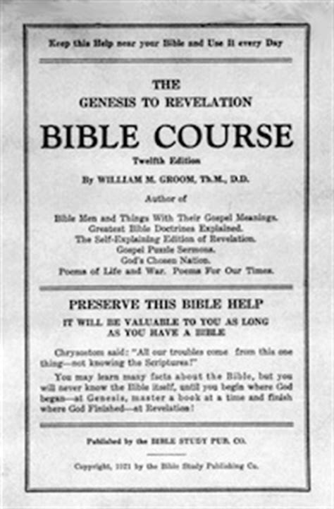 bible genesis to revelation genesis to revelations course