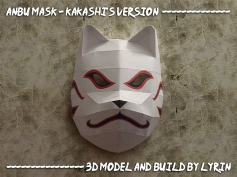 Kitsune Mask Papercraft - kakashi s mask papercraft by lyrin 83 on deviantart