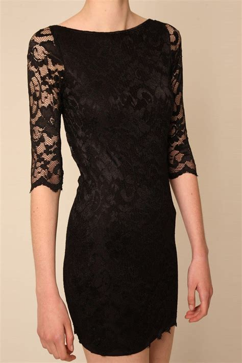 mistress black backless lace mini dress