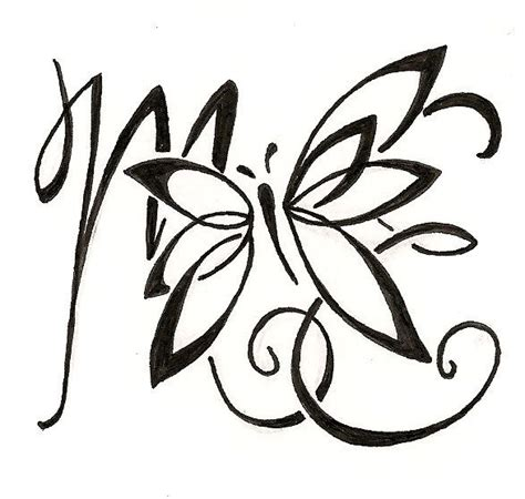 initial tattoos fonts custom lettering design for a initials
