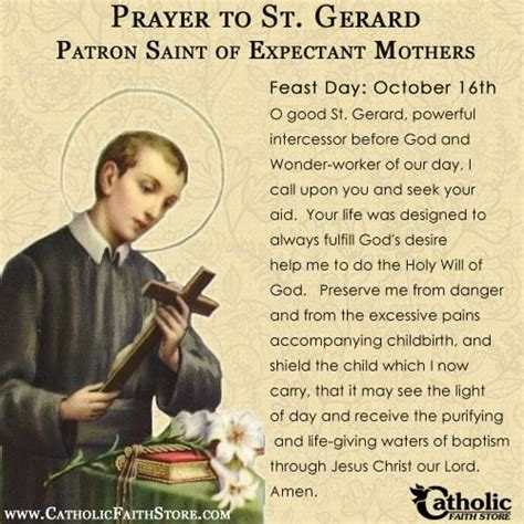 prayers to st catholic faith store st gerard you are the patron
